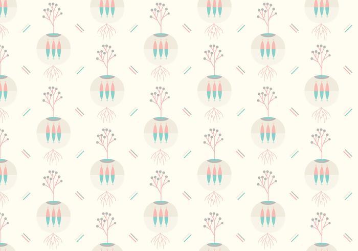 Pflanze abstraktes Muster vektor
