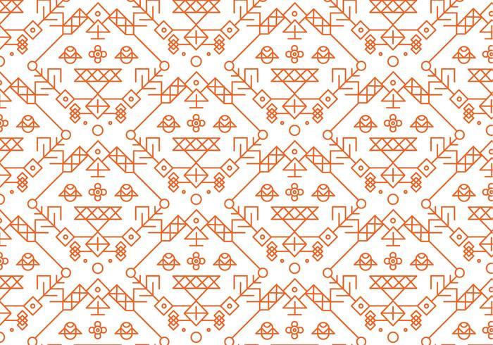 Red Dekorative Muster Vektor