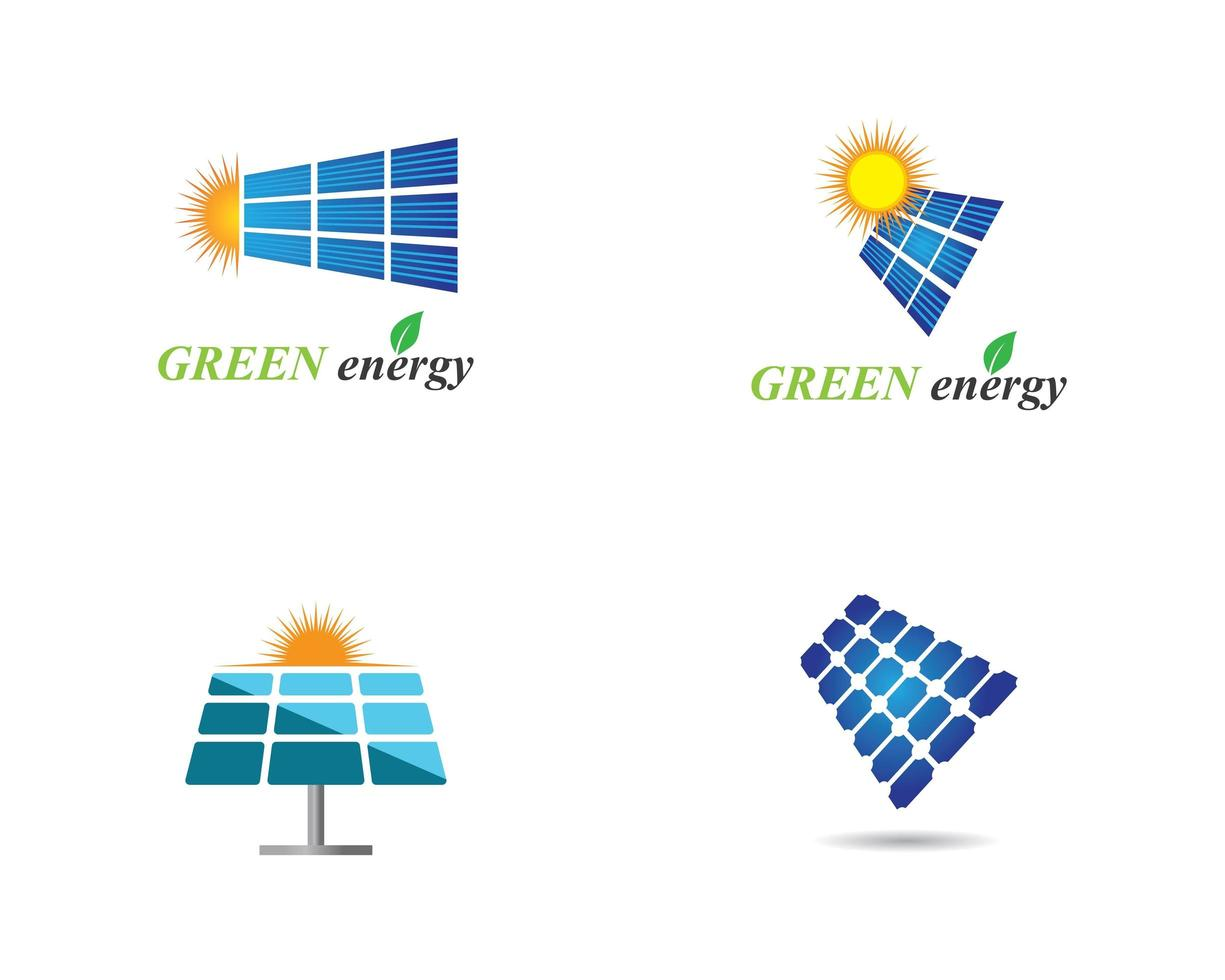 Solarpanel-Logo-Set vektor