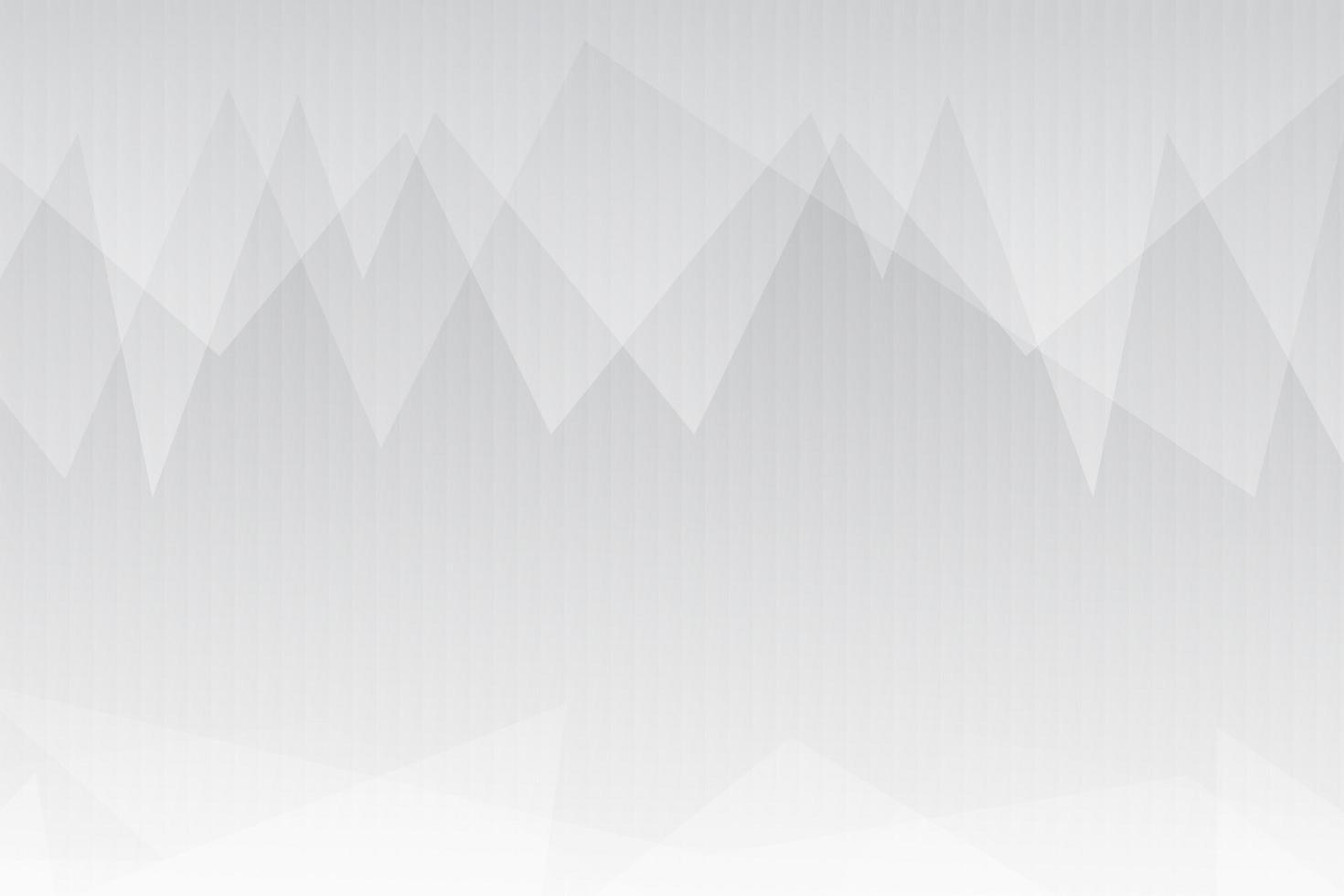 weißer und grauer überlappender Dreieckhintergrund vektor
