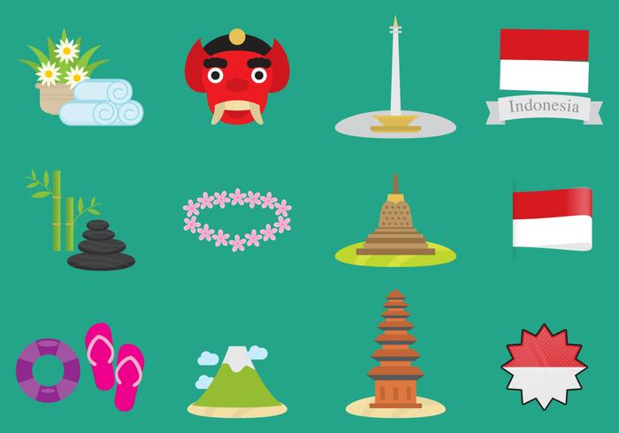 Indonesien vektor ikoner
