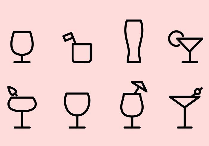 Free Drink Icons Vektor