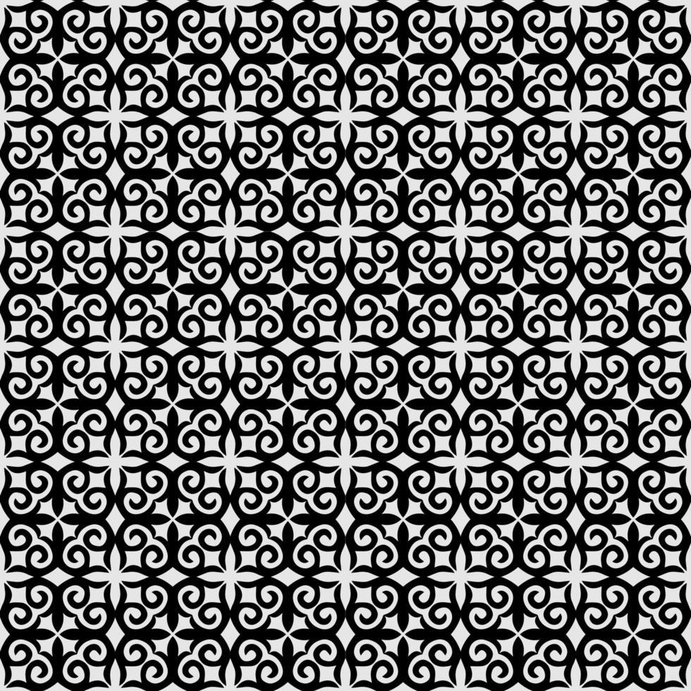 niedliches florales abstraktes geometrisches Blattmuster vektor