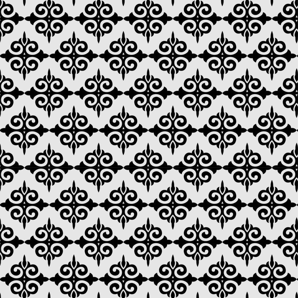 Schwarz-Weiß-Fleur de Lis-Ornamentspaten geometrische Hintergrundtapete vektor