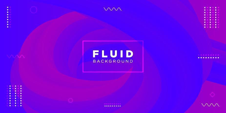 blaue und lila abstrakte Flüssigkeit formt Hintergrund vektor