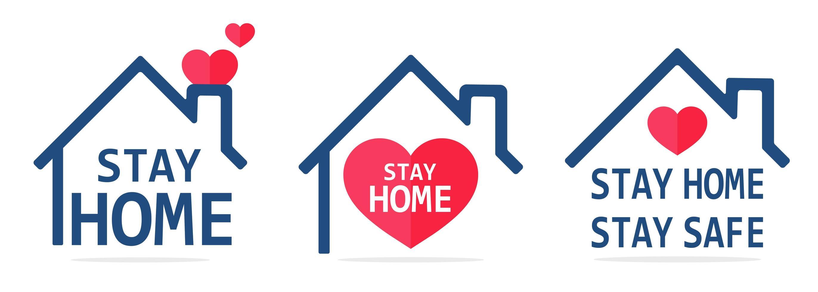 Bleib zu Hause Line Icon House vektor