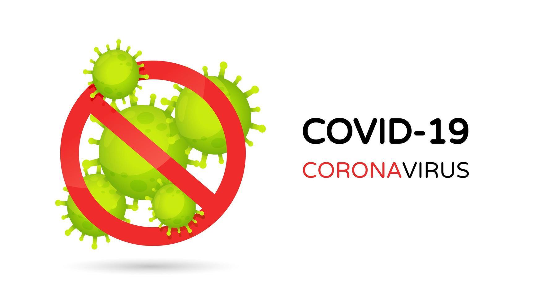 Stoppen Sie das Covid-19-Symbol vektor