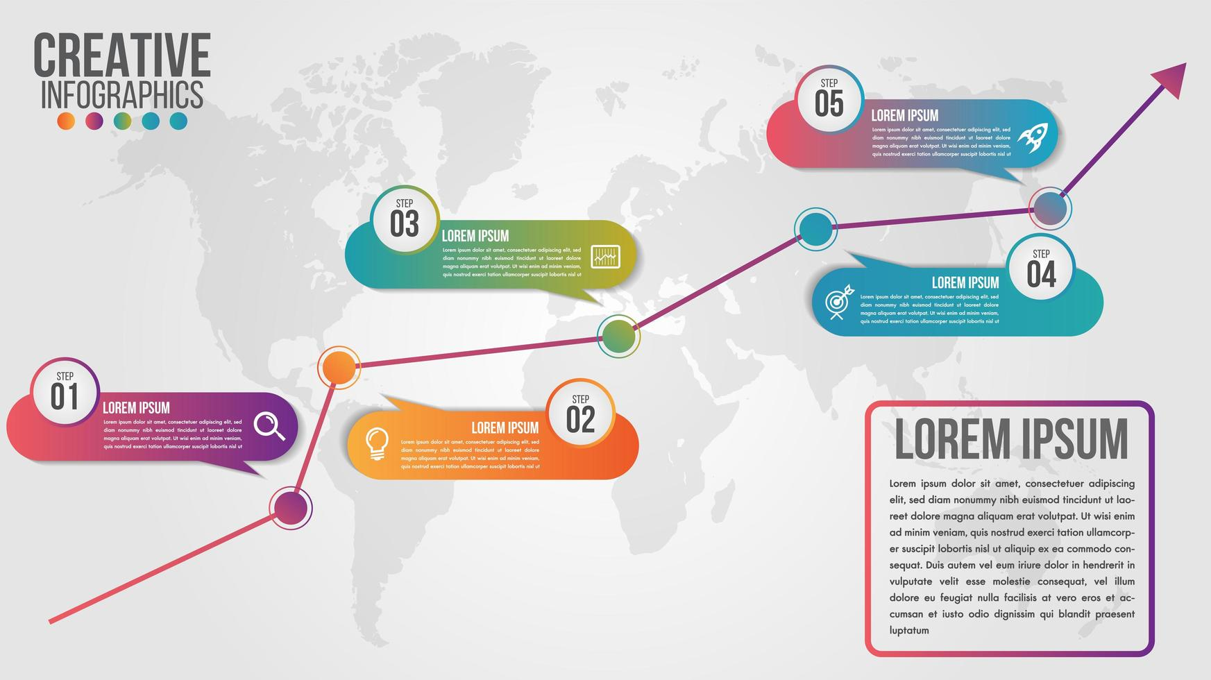 Business Infografik Global Timeline Design vektor