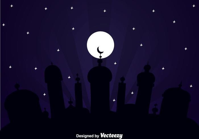 Große Moschee Arabische Nacht vektor