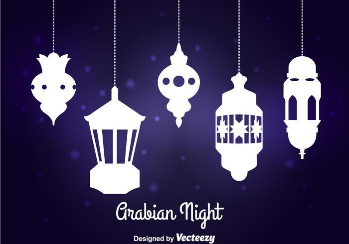 Arabische Nachtlampe Vektor