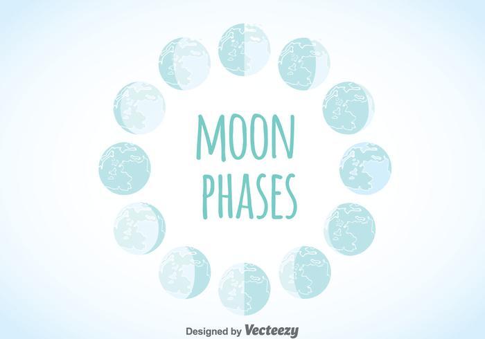 Mondphasen-Vektor vektor