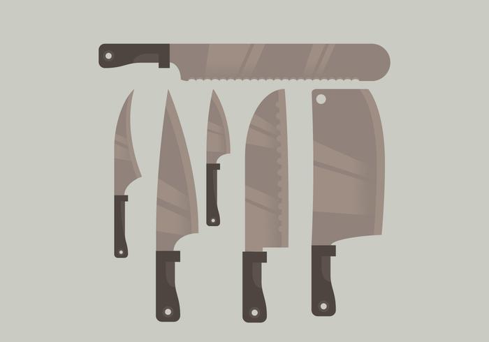 Vektor klyvkniv samling