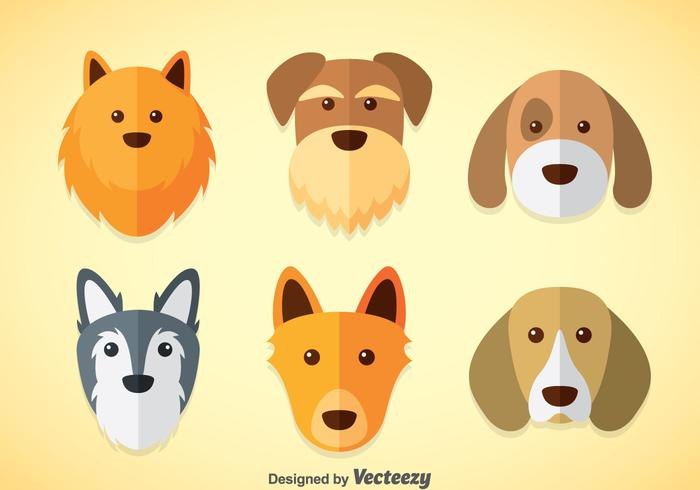 Hundar Vektor uppsättningar