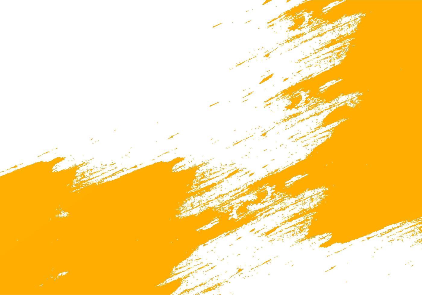 orange Grunge Pinselstrich Textur in Richtung Mitte vektor