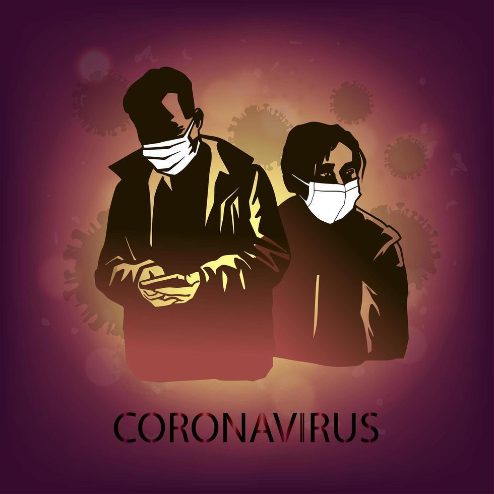 Coronavirus greift Menschen an vektor