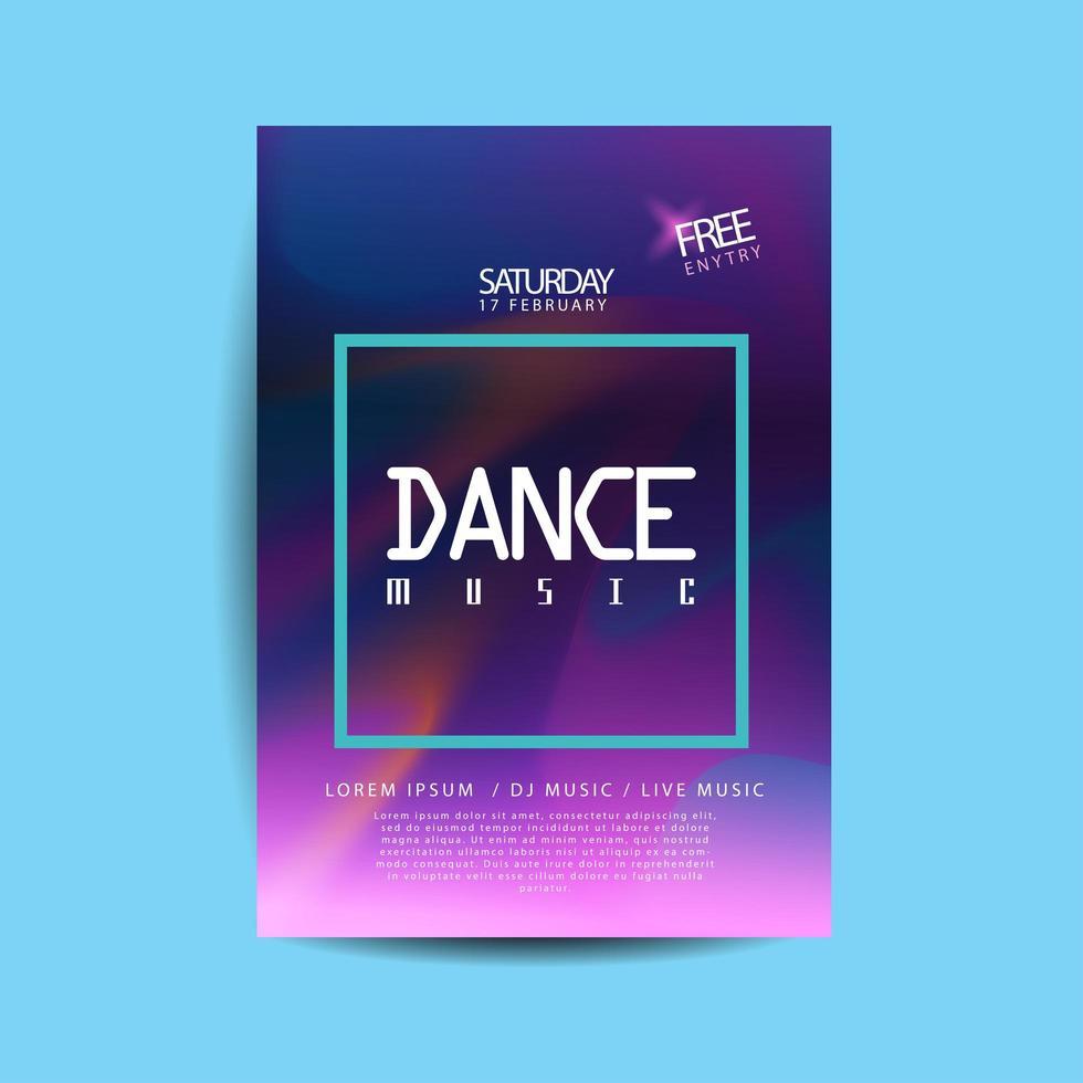lila akvarell dansmusik flygblad vektor
