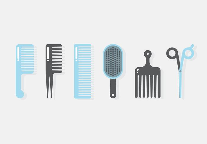 Vektor Friseur Werkzeuge