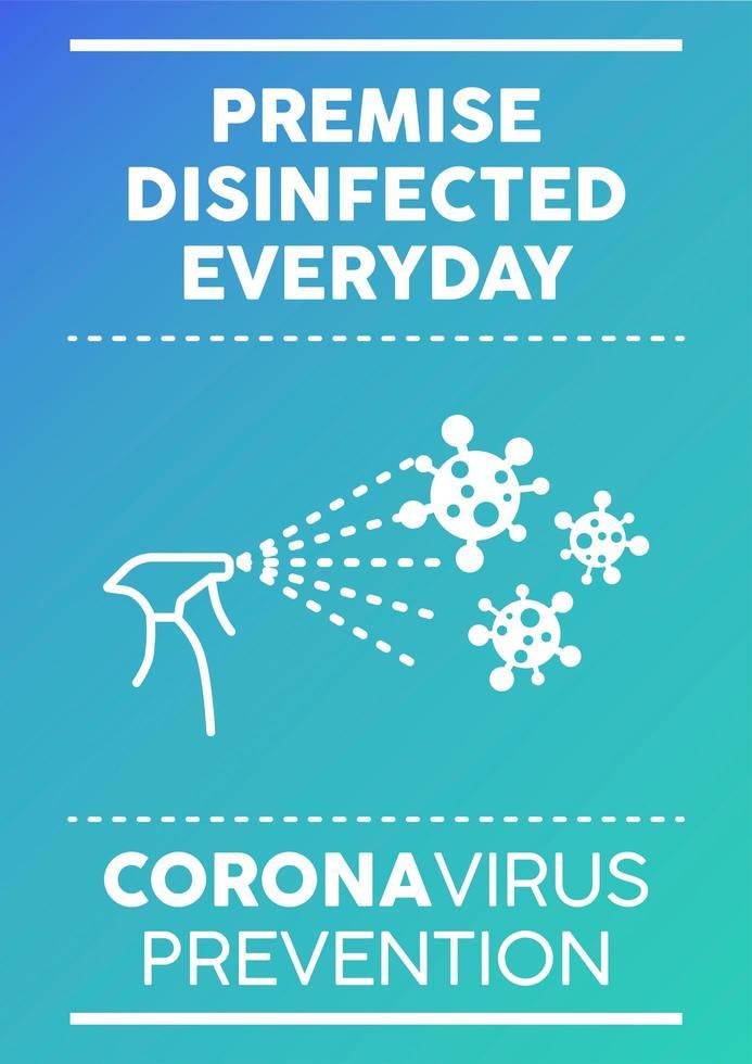Täglich desinfiziertes Poster vektor