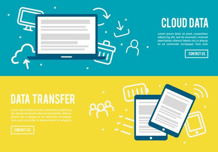 Flat Digital Marketing Ikon Samling Vector Bakgrund