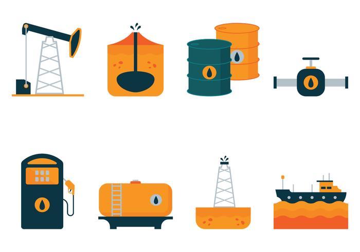 Vector Öl flache Icons