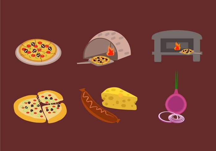 Making Pizza Vektor machen