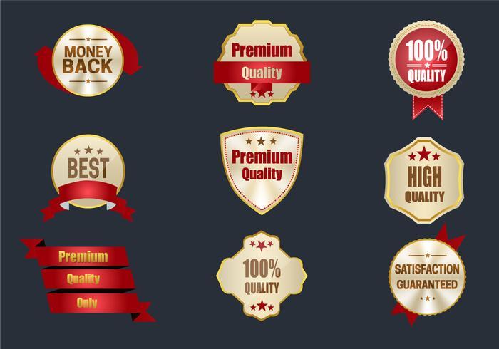 Beste Qualitäts-Etiketten vektor
