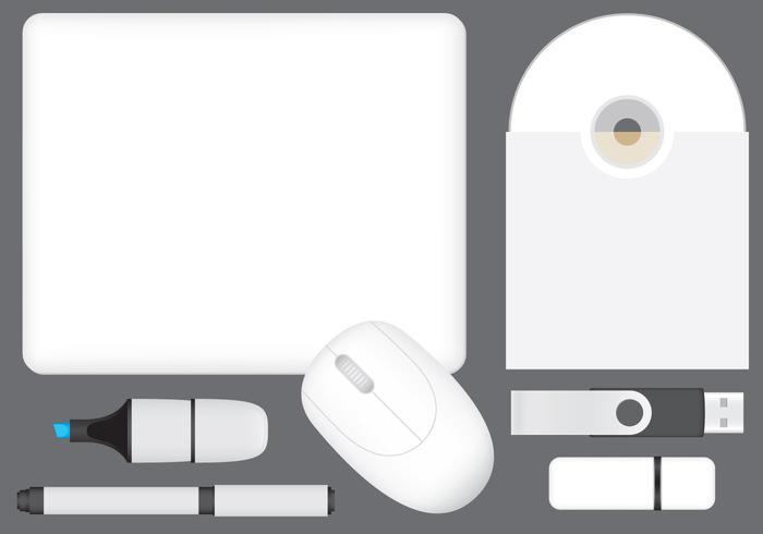 Tech Mockup Promotion Vorlage Vektoren
