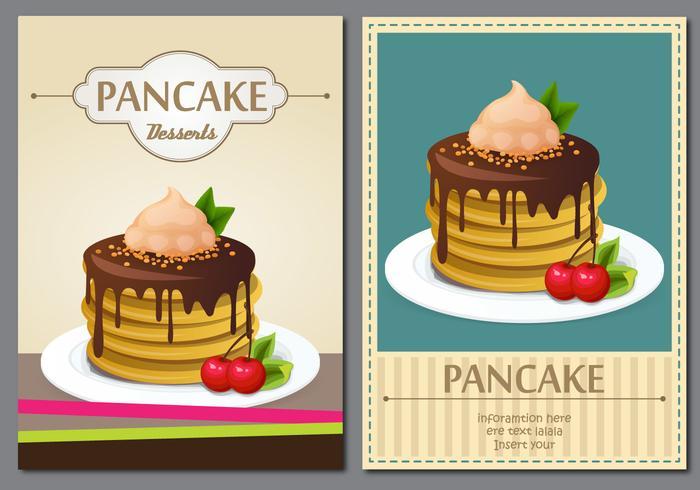 Weinlese-Pfannkuchen-Plakat vektor