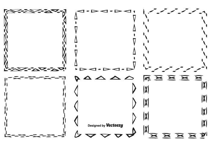 Handgezeichnetes Style Frame Set vektor