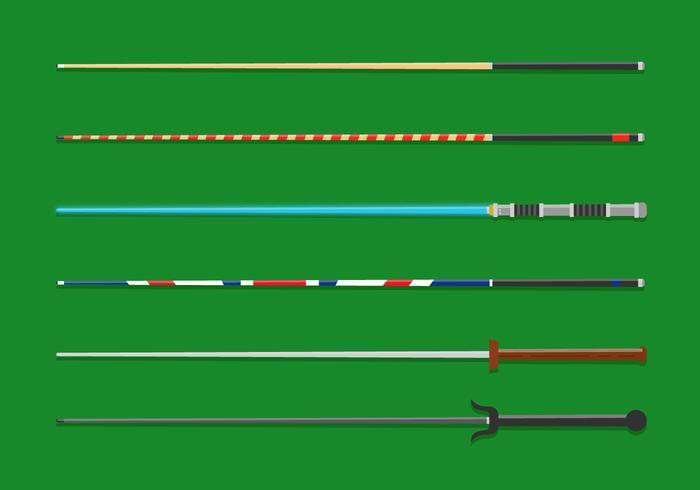 Vektor-Pool-Sticks vektor