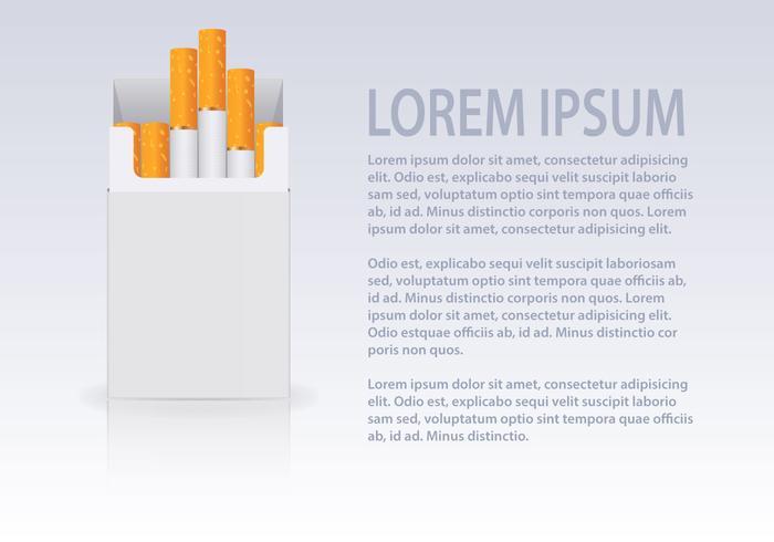 Gratis cigaretter Open Pack Vector
