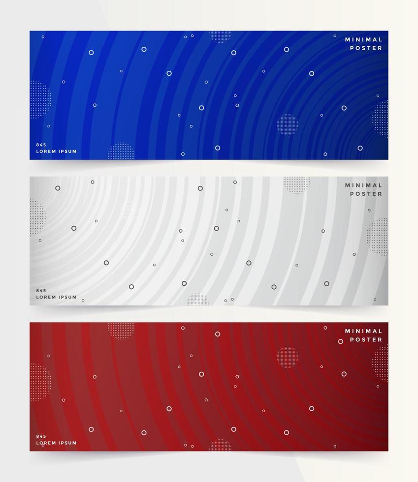 moderne Reihe von Bannern mit buntem Farbverlauf vektor