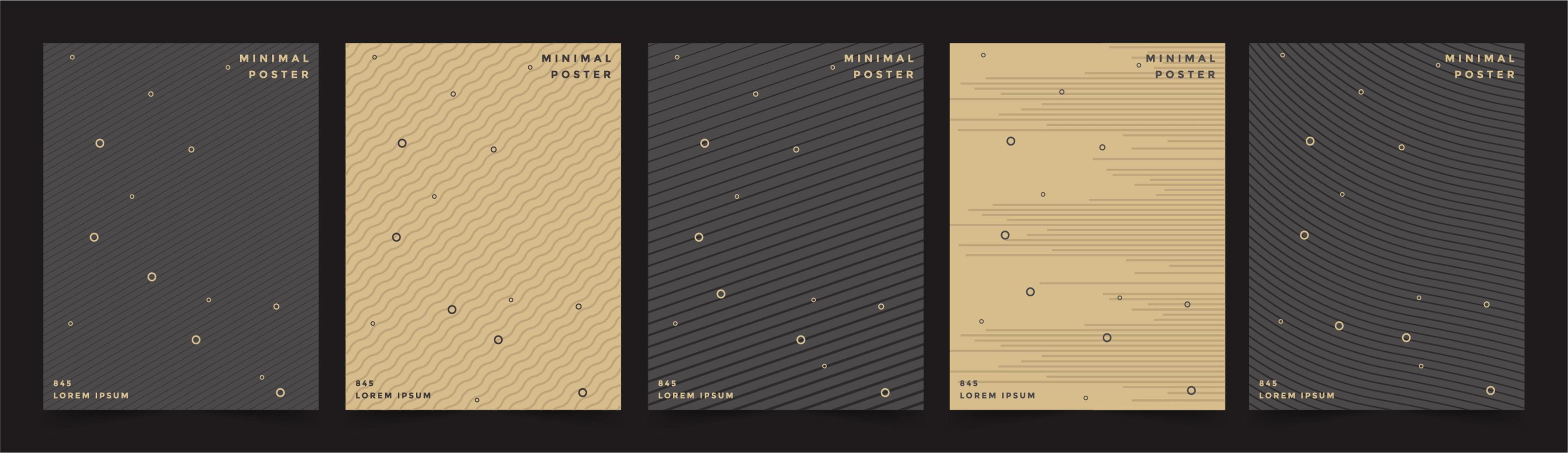 Premium Cover Menü Design geometrischen Hintergrund vektor
