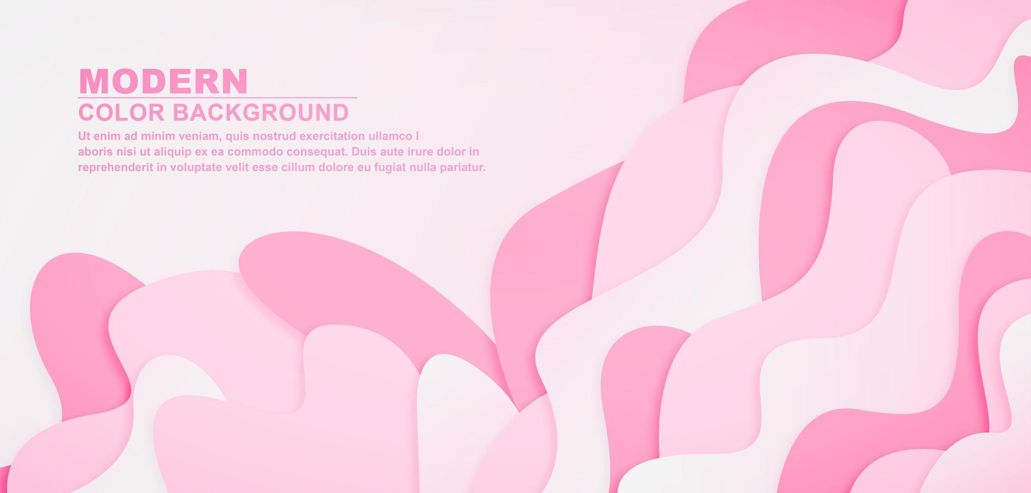 realistischer rosa Wellenhintergrund vektor