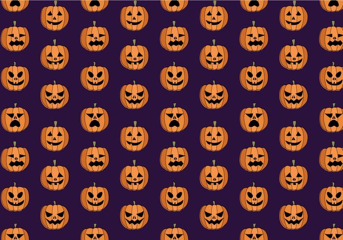 Gratis Pumpkin Pattern Vector