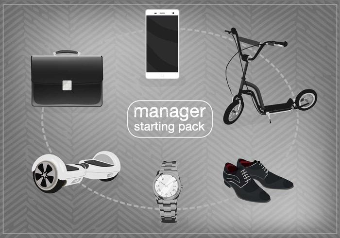 Gratis manager startpaket vektor
