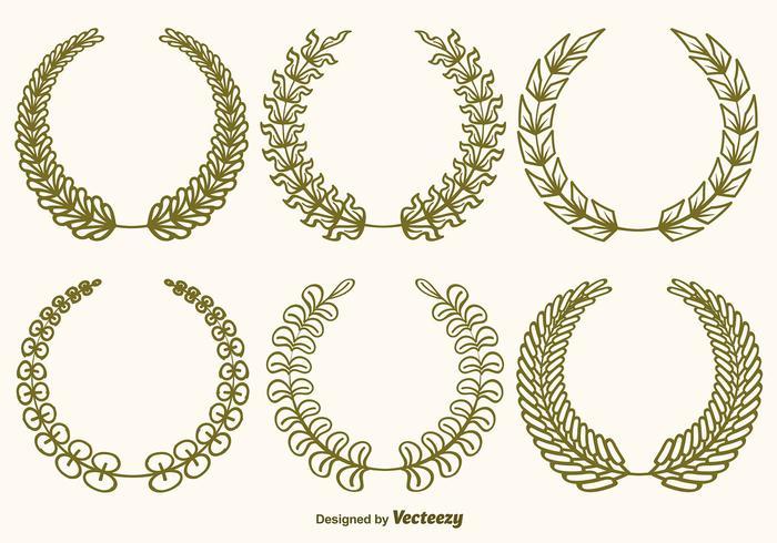 Vektor Olive Wreaths Set