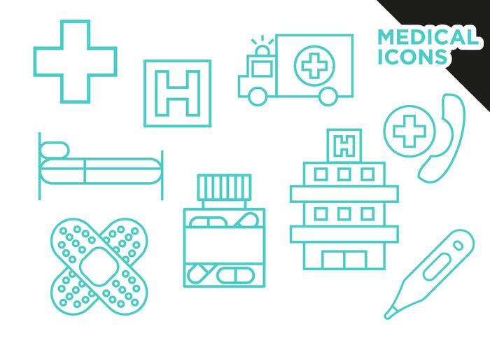 Medizinische Icons Flat Vector Free