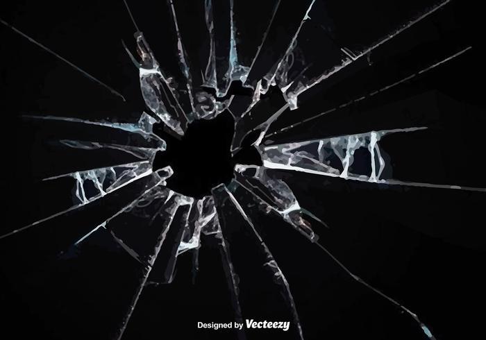 Vector Broken Glass Effekt