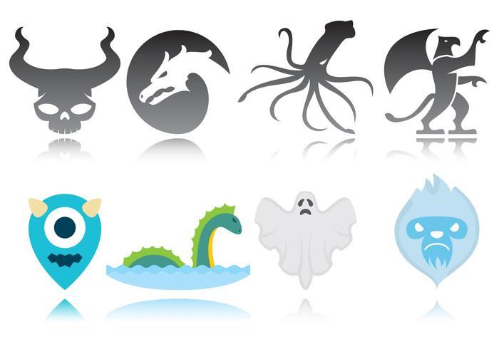 Monster logotyper vektor