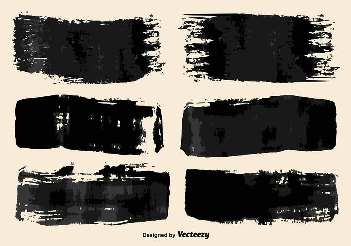 Vector Black Paint Pinsel Striche