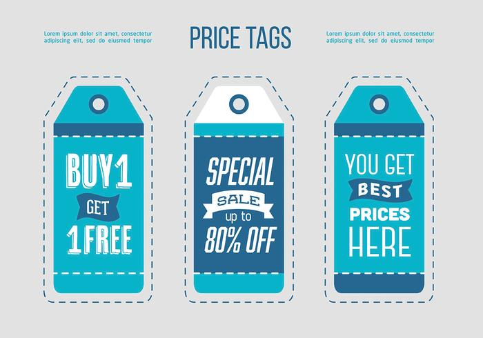 Free sale tags entwerfen vektor