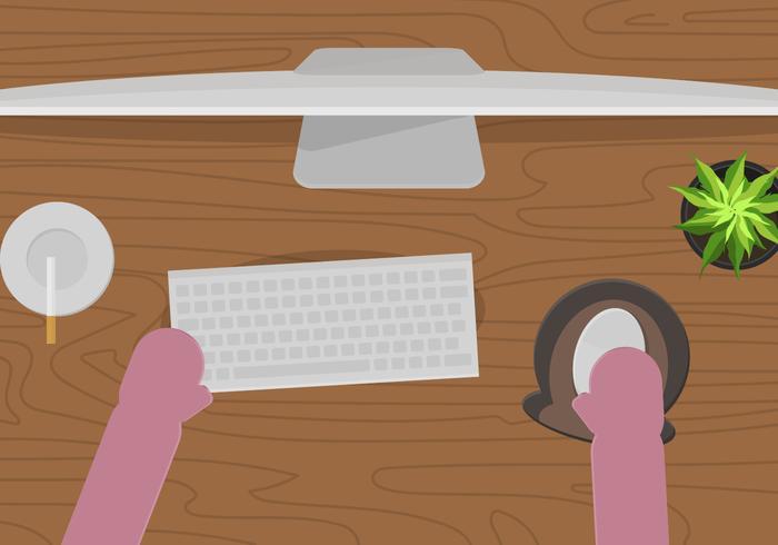 Kostenloser Schreibtisch-Setup-Vektor vektor