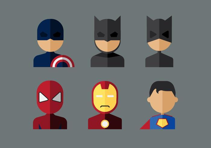 Vektor superhjältar