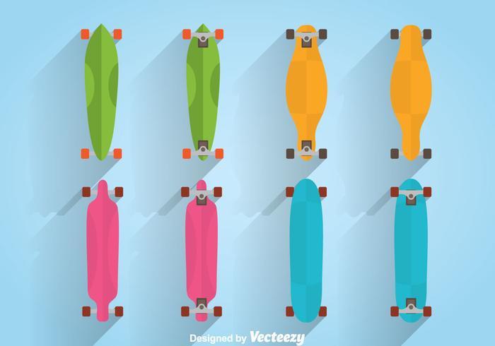 Färgglada Longboard Vector