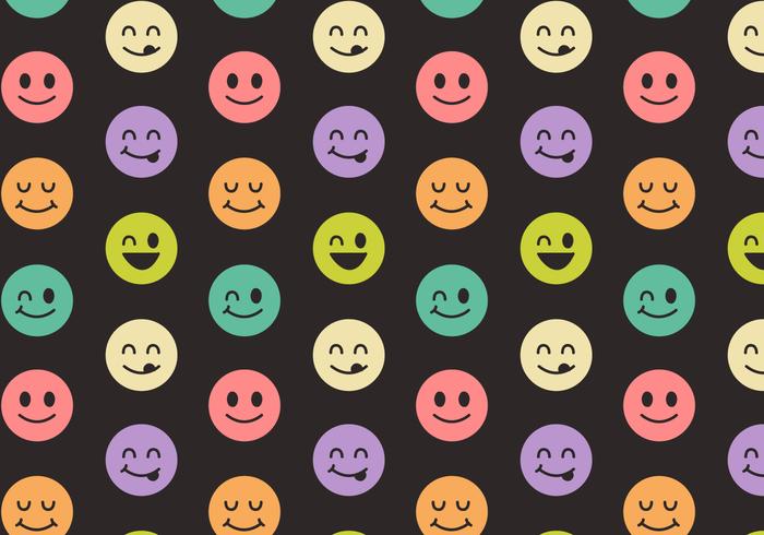Gratis Smiley Face Pattern Vector