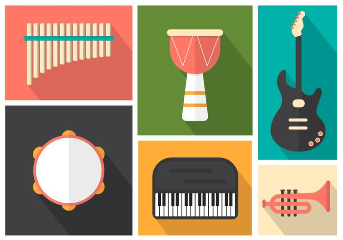 Musikinstrumente für Pop, Jazz und Rock vektor