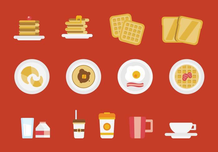 Gratis frukost Vector Set
