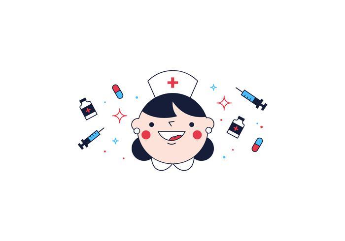 Kostenlose Krankenschwester Vektor
