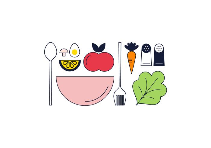 Freier Salat Vektor